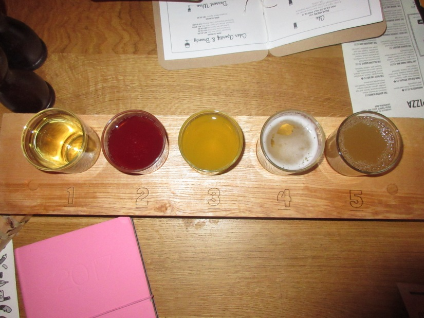 Cider Tasting Board at The Stable, Birmingham